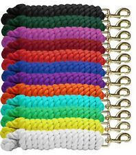 """Showman COTTON LEAD ROPE Braided 3/4"""" x 10' with BRASS Snap"""