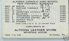 1934 Altoona PA Catholic High School Football Schedule / Altoona Leather Store