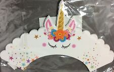 Pretty Unicorn Cupcake Wrappers with topper - Set of 24 Unique Artist Design New