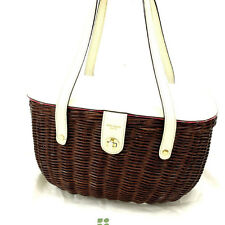 Kate Spade Handbag Beige Brown Woman Authentic Used Y1420