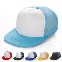 Blank Plain Tide Baseball Snapback Golf Cap Hip-Hop Adjustable Unisex Hat Sport