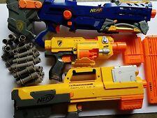 Lot of 3 Nerf Guns: Nerf-N-Strike Deploy CS-6 Barricade RV -10 & Long Shot CS-6