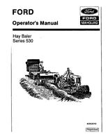 New Holland 530 Baler Operators Manual