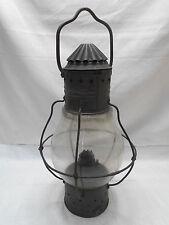 Vintage Copper and Glass Oil Ship's Light Kerosene Lamp Japanese   #44