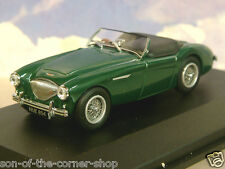 OXFORD DIECAST 1/43 AUSTIN HEALEY 100 BN1 WITH TONNEAU IN SPRUCE GREEN AH1003