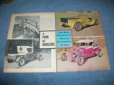 """1926 1928 Ford Roadster Pickups Vintage Hot Rod Article """"A Pair of Haulers"""""""