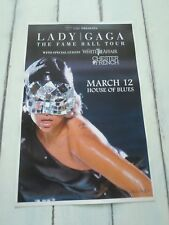 "LADY GAGA Concert Poster THE FAME BALL TOUR San Diego HOUSE OF BLUES 11""x17"""