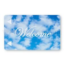 Welcome Cloud Generic Magstripe Hotel Keycards - Case of 2,500