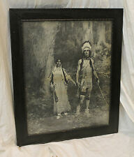 Antique Native American Indian Print – Signed & Dated 1898