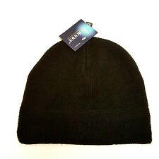NWT ISOTONER  Womens  Smart Dri  Black Knit Cap Hat Repels Water Snow MSRP $18
