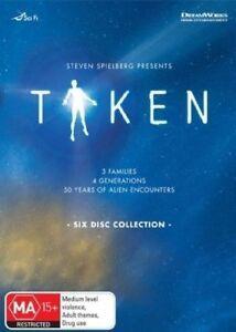 Taken Steven Spielberg DVD Box Set BBC R4 6 discs 50 years of Alien Encounters