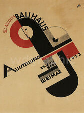 Bauhaus Art Exhibition, 1923 Vintage Advertising Giclee Canvas Print 30x40