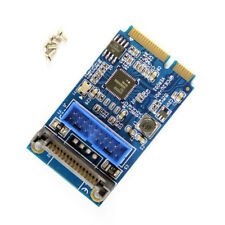 Mini PCI-E to 19-pin USB 3.0 5Gbps Dual SATA USB3.0 Mini Expansion Card Adapter