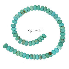 """7.9"""" Genuine Chinese Turquoise Rondelle Beads 6mm Sky Blue #82203"""