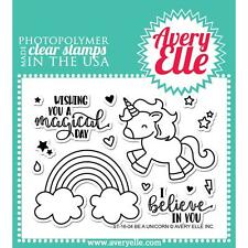 Avery Elle Stamps & Dies - Be a Unicorn, Rainbow, Magical Day, I Believe in You