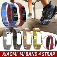 Xiaomi Mi Band 4 Metal Stainless Steel Wrist Band Bracelet Smart Watch Strap
