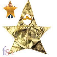 Kids Gold Star Christmas Nativity Fancy Dress Costume Boys Girls Outfit