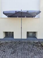 QUICK STAR Balkon Sonnenschirm 200x125cm Rechteckig Gartenschirm Grau