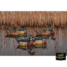 NEW ZINK AVIAN-X TOP FLIGHT WOOD DUCK WOODIE FLOATER FLOATING DUCK DECOYS 6 PACK