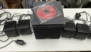 Cambridge Soundworks 5:1 Speaker Set, with adaptor and leads, and installation C
