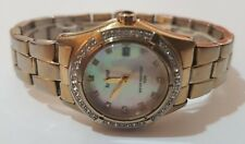 Accurist Ladies' Gold Tone Mother of Pearl Dial Gem Set Watch LB1241
