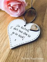 Personalised Retirement Plaque Wooden Heart Gift Colleague Goodluck keepsake