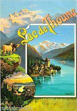 Lak de Thoune Swiss Switzerland Europe European Travel Art Poster Advertisement