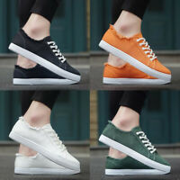 Mens Espadrilles lace up Casual Deck Shoes Canvas Lightweight Sneakers Fisherman