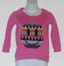 Flowers By Zoe By Kourageous Kids French Terry Studded Sweatshirt Pink M/8 NWT