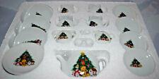 Vintage 17 Piece Child's Christmas China Tea Set