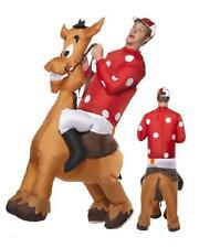 Smiffys - Costume gonfiabile Jockey a Cavallo con Maglietta e Cappello adulto