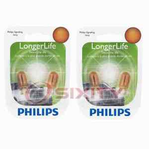 2 pc Philips Parking Light Bulbs for Plymouth Caravelle Gran Fury 1980-1989 hq