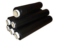 Extra Strong Black Pallet Stretch Shrink Wrap Film  500mm x 250m 25mu x 4 Rolls