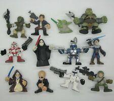 12PCS Star Wars Galactic Heroes Yoda boba fett Stormtrooper Gamorrea E13R