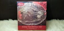 """Gibson Everyday Holiday Time Christmas Bells 13"""" Glass Platter"""