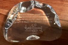 """Glass Paperweight - """"You can dream, create, design and build—"""" Walt Disney"""