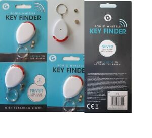 1-2pk Lost Key Finder Sonic Whistle Flashing Beeping Locator Remote chain LED UK