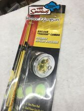 THE SIMPSONS NUCLEAR FISSION COMBO FISHING ROD - RARE IN PACKAGE, FREE SHIPPING!