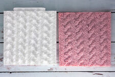 Silicone Mould Cable Knit Texture Embossing Mat ,Knitted. Knitting M183