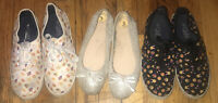 Lot Of 3 Girls Nina Slip On Shoes Sz 3 Emoji Lace Up Sneakers Size 4