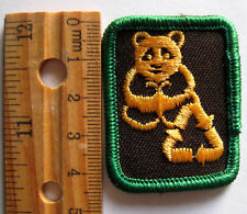 Girl Guide Canadian 1990's Brownie PRESERVATION OUTLOOK BADGE Panda Patch Canada