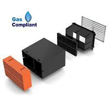 "9"" x 6"" Extendable Cavity Wall Sleeve Vent with Terracotta Air Brick Ventilator"