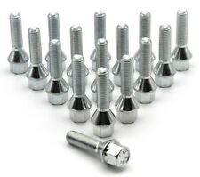 10x M12 x 1.5 40mm Extended Wheel Spacer Bolts, Tapered Seat, BMW 5 Series