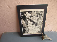 vintage illustration of girl and fairies by M. T. Ross  1935