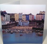 TENBY Harbour Birthday or Anniversary Blank Greeting Card