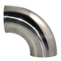 φ89 OD 89mm 3.5'' Sanitary Weld Elbow Pipe Fitting 90 Degree Stainless Steel 304