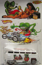 Hot Wheels CUSTOM VOLKSWAGEN DRAG BUS Rat Fink Real Riders Limited 1/10 Made!