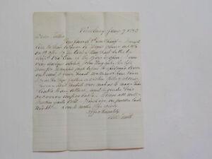 Antique Letter 1873 Epidemic Yellow Fever VTG Smith Paper Vicksburg Mississippi