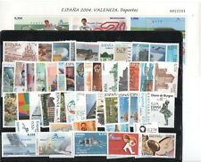 ESPAÑA AÑO COMPLETO 2004 ( SERIE DE SELLOS Y HOJAS BLOQUE) INTERESANTE