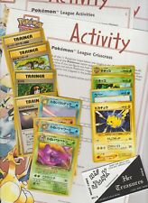 3- Pokemon Activity Sheets and 14 Japanese Pokemon Cards NM/M